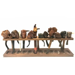 Hand-Carved Smoking Tobacco Pipes With Pipe Holder