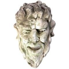 Concrete Bacchus Head
