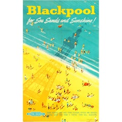 Original Vintage British Railways Poster - Blackpool for Sea Sands and Sunshine!