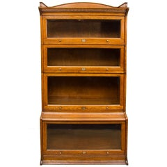 1920s-1930s Oak Stacking Bookcase by Harris Lebus