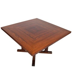 Brazilian Rosewood Square to Round Dining Table