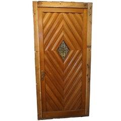Optic Diamond Pattern Door, circa 1920