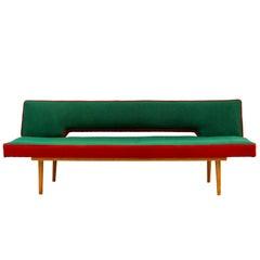 Midcentury Sofa Daybed by Miroslav Navratil, Czechoslovakia, 1960s