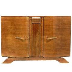 Art Deco Credenza Sideboard Buffet Walnut, French, circa 1930