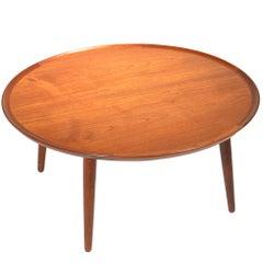 William Watting Round Teak Coffee Table, Denmark, 1965