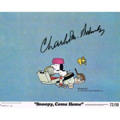 Charles Schulz Autograph on Lobby Card