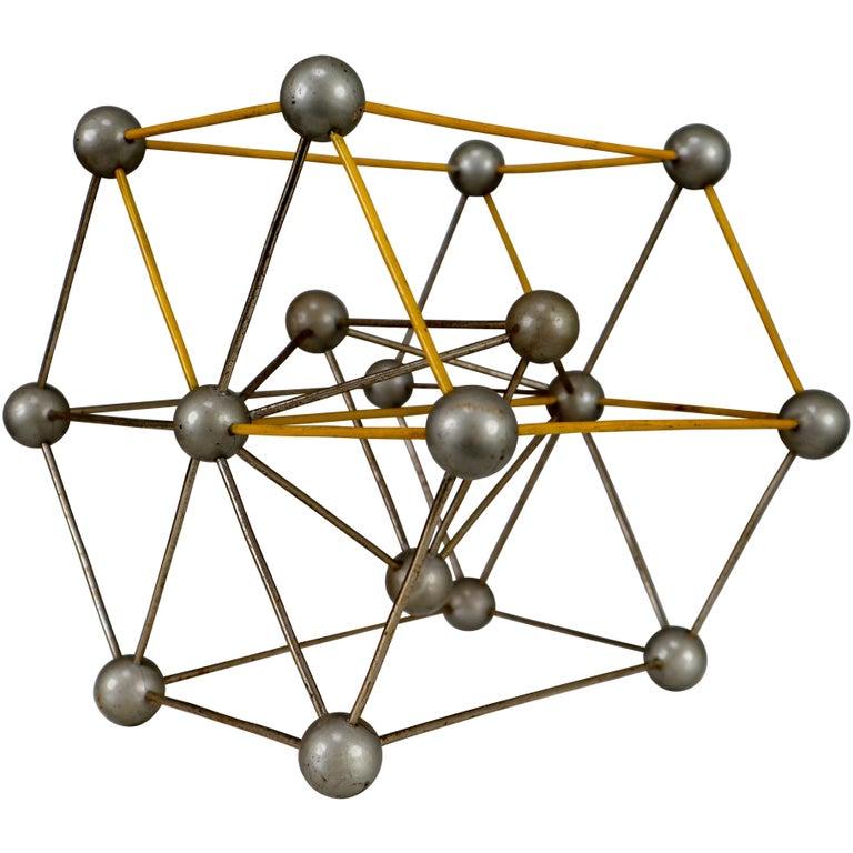 Mid-Century Scientific Crystal Molecular Model