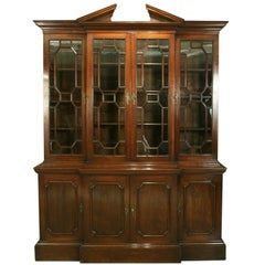 George III Breakfront Bookcase in Mahogany