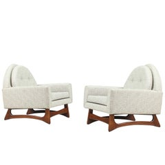 Midcentury Sculpted Base Lounge Chairs by Kroehler
