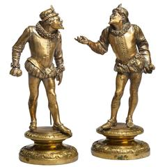 Pair of French Bronze Court Figures