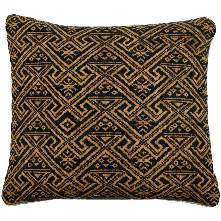 Chinese Hill Tribe Brocade Textile Pillow