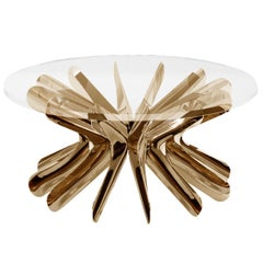 Limited Edition Large Steel in Rotation Coffee Table in Lacquered Copper, Zieta