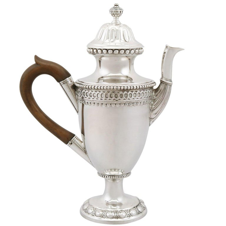 1743 Antique German Silver Coffee Pot