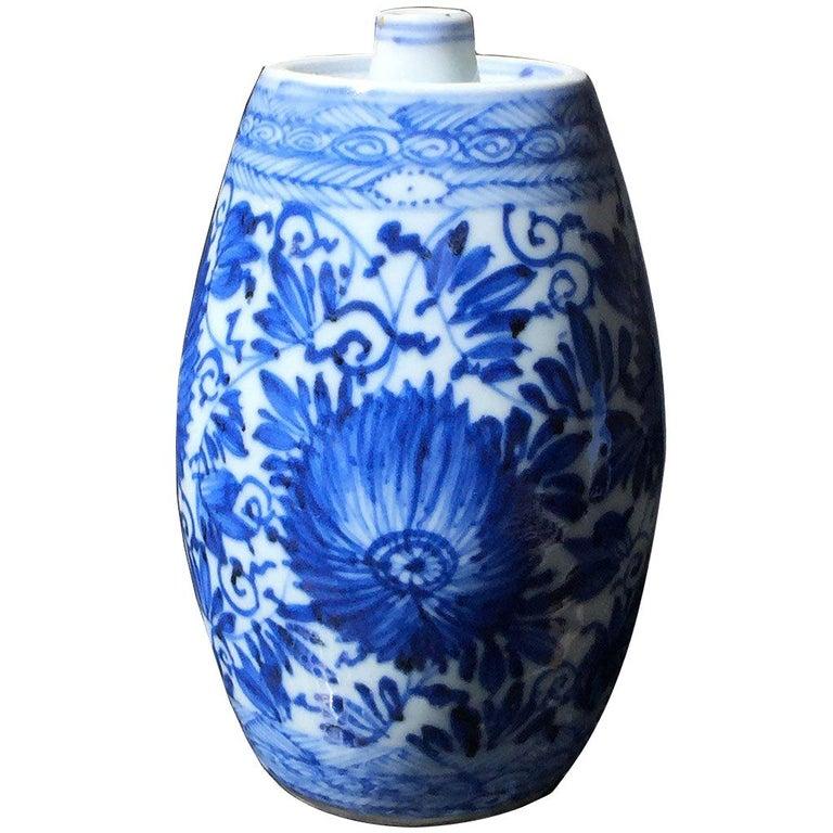 Chinese Blue and White Spirit Bottle, Kangxi
