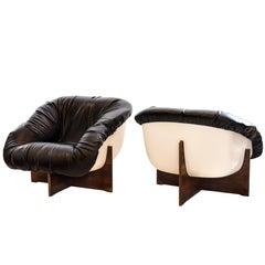 "Midcentury Brazilian ""MP-61"" Armchair in Rosewood/Fiberglass by Percival Lafer"