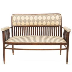Austrian Bentwood 'Secessionist' Beechwood Loveseat