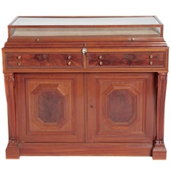 William IV Mahogany Cabinet with Vitrine / Display Top