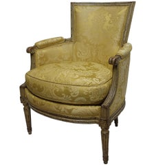 Louis XVI Style Bergère Chair, French, Late 19th to Early 20th Century