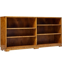 Mid-20th Century Scandinavian Modern Low Open Bookcase