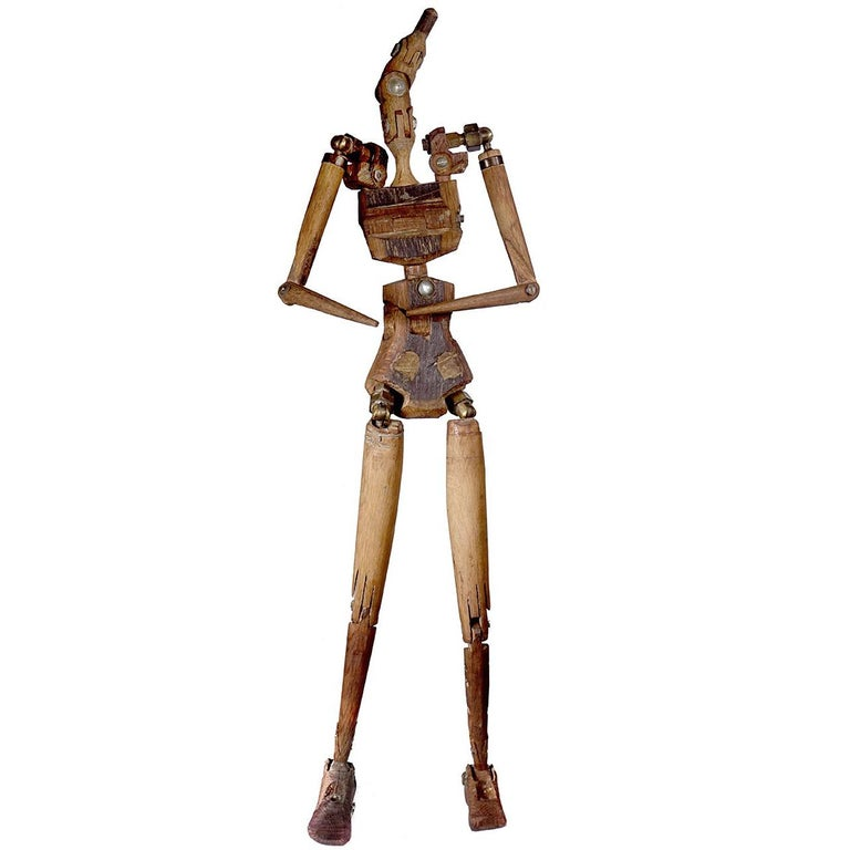 Rustic Articulated Artist's Mannequin For Sale