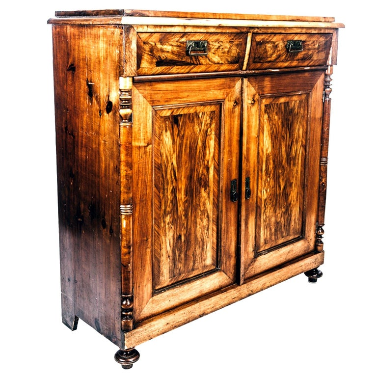 Swedish Antique Cupboard in Mahogany from Early 1900s