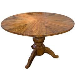 19th Century Biedermeier Round / Centre Walnut Table