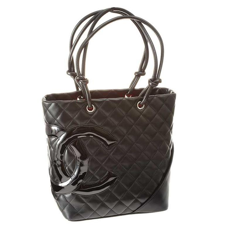 3a851e3eaa57 Chanel Quilted Black Leather Bucket Bag Handbag Silver Tone Hardware