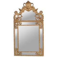 French Louis XVI '18th Century' Carved Gilt Wall Mirror