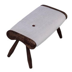 Eye, Contemporary Wool Upholstered Foot Rest