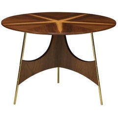 Contemporary Wood and Metal Side Table