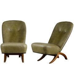 Pair of Theo Ruth 'Congo' Chairs