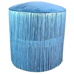 Fringe Covered Ottoman Pouf