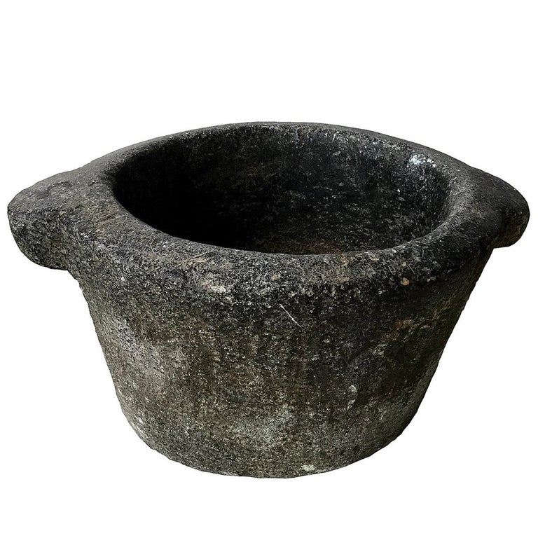 Hand-Carved Stone Mortar, 18th Century