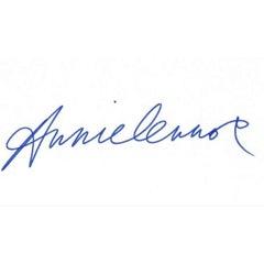 Annie Lennox Autograph