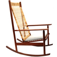 Hans Olsen for Juul Kristiansen Rocker High Back Rocking Chair