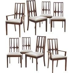 Stunning Set of Eight Mid-Century Modern Broyhill Brasilia Dining Chairs