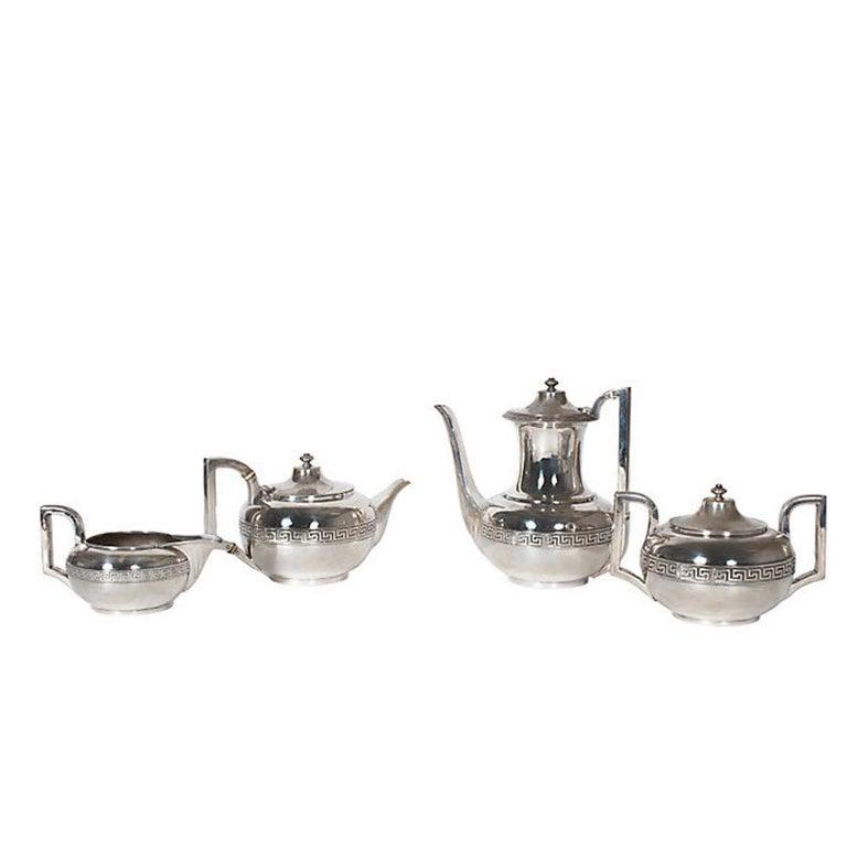 Four-Piece Gorham Silver Tea and Coffee Set