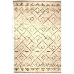 Contemporary Moroccan Pattern Area Rug