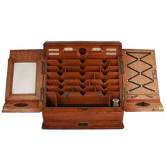 Edwardian Oak Stationery Cabinet