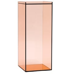 Desert Mirror Side Table in Mirrored Peach Glass