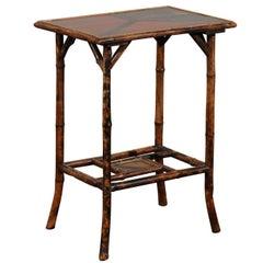 Small Bamboo Side Table, Rectangular Top, circa 1900