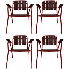 Mid-Century French Style Garden Chairs, 1970s