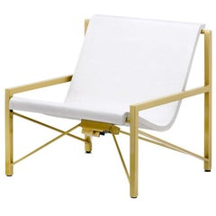 Heated Indoor/Outdoor Cast Stone Evia Chair, Custom Frame, Arctic White