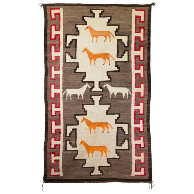 Navajo Crystal Horse Pictorial Weaving