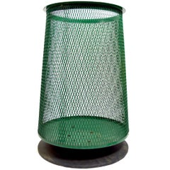 Mid Century Trash Garbage Can with Metal Mesh