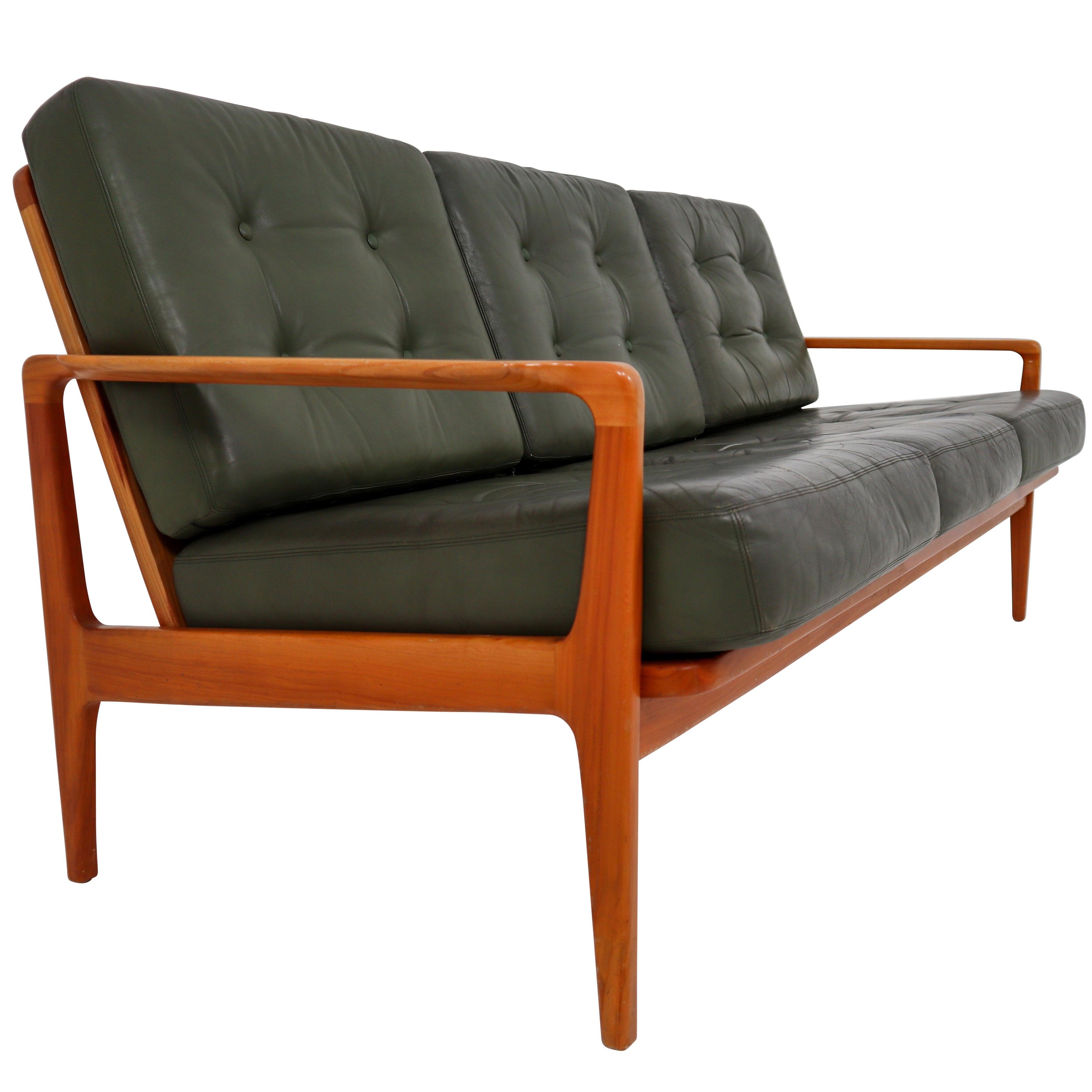 Midcentury Danish Three-Seat Sofa by Arne Wahl Iversen, Denmark, 1960s