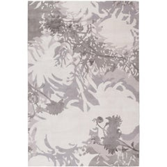 Dahlia Hand-Knotted 6x4 Floor Rug in Wool and Silk by Alexandra Champalimaud