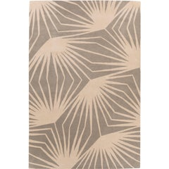 Stingray Neutral Hand-Knotted 6x4 Area Rug in Wool by Alexandra Champalimaud