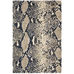 Python Glory Hand-Knotted 6x4 Floo Rug in Wool and Silk by Diane von Furstenberg