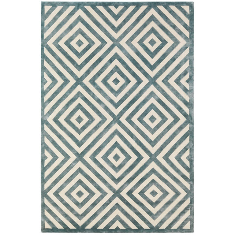 Key Shadow Hand Knotted 6x4 Area Rug In Wool By Suzanne